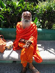 Yoga instructor at Parmarth Niketan Muni Ki Reti Rishikesh  Autor: Ken Wieland