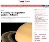 Neznámy objekt pretrhol prstenec Saturnu